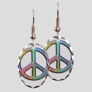 Peace Earring Oval Charm