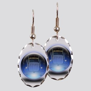 Trucker's Crystalball Earring Oval Charm