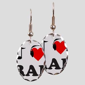RAP MUSIC Earring Oval Charm