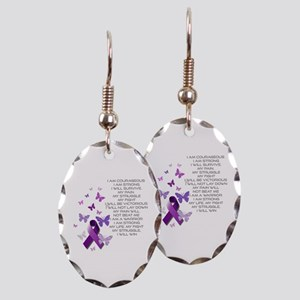I am Strong Earring Oval Charm