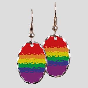 Rainbow Ripple Earring Oval Charm