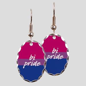 Bi Pride Earring Oval Charm