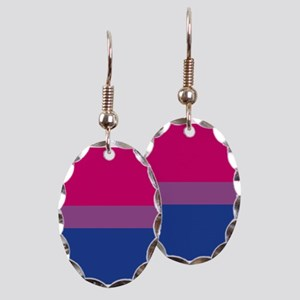 Bi Pride Flag Earring Oval Charm