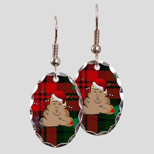 christmas dump trump Earring Oval Charm