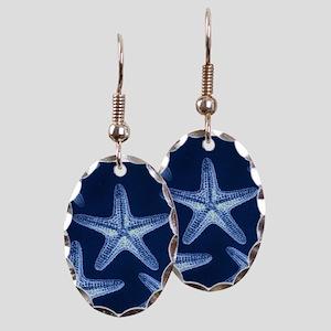 beach blue starfish Earring Oval Charm