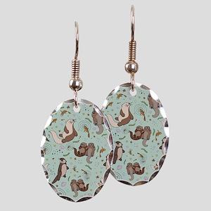 Otters Earring Oval Charm