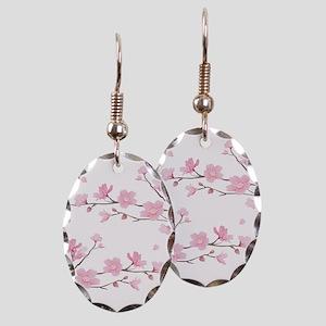 Cherry Blossom Earring Oval Charm
