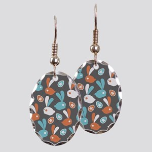 Easter Bunnies Modern Twist Pat Earring Oval Charm