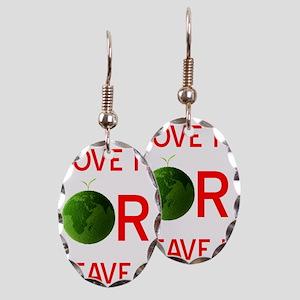 love earth Earring Oval Charm