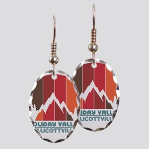 Holiday Valley - Ellicottvill Earring Oval Charm