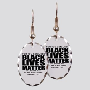 African American Earring Oval Charm