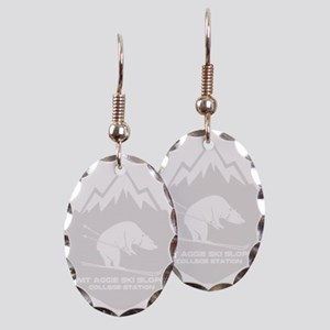 Mt Aggie Ski Slope - College Earring Oval Charm