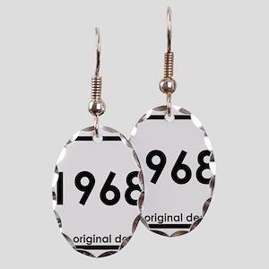1968 birthday original design y Earring Oval Charm
