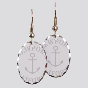 Summer newport- california Earring Oval Charm
