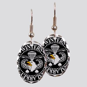 Band of Brothers Crest Earring Oval Charm