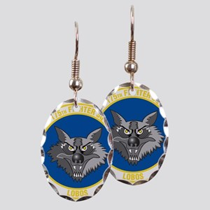 175th_fighter_squadron Earring Oval Charm