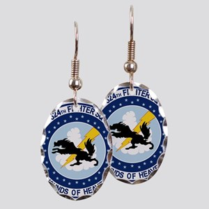 524_fs Earring Oval Charm