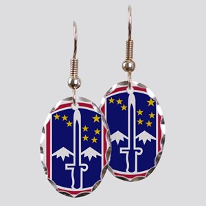 172nd Infantry Brigade Earring Oval Charm