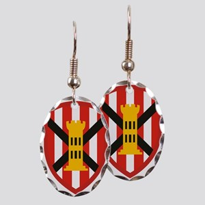 7th Engineer Bde Earring Oval Charm