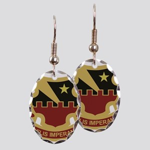 60th Air Defense Artillery Earring Oval Charm