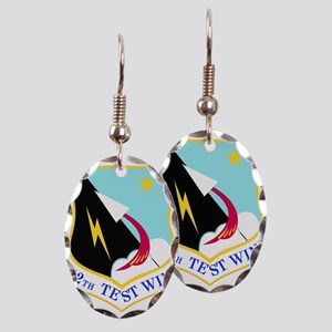 USAF Air Force 412th Test Wing Earring Oval Charm