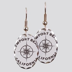 California - Newport Beach Earring Oval Charm