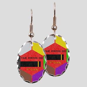 TKD Belt Ring hx Earring Oval Charm