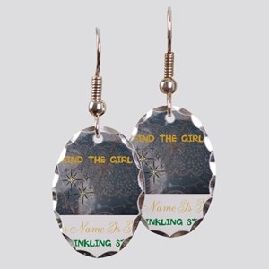 FIND THE GIRL. HER NAME IS KISS Earring Oval Charm
