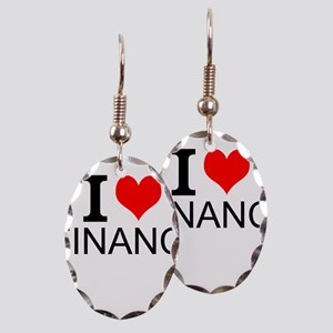 I Love Finance Earring