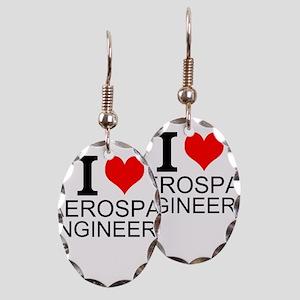 I Love Aerospace Engineering Earring