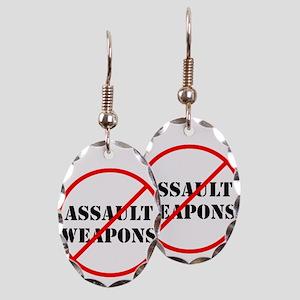 No assault weapons, gun control Earring