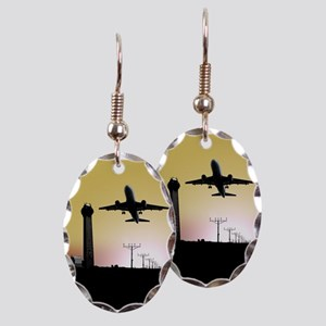 ATC: Air Traffic Control Tower & Plane Earring
