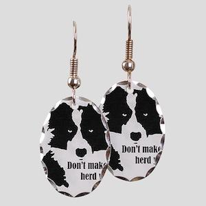 Border Collie Art Earring
