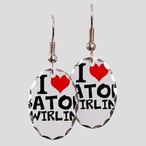 I Love Baton Twirling Earring
