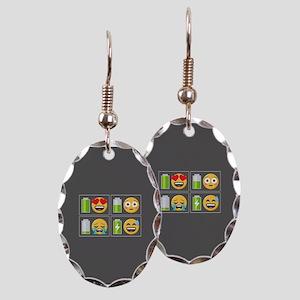 Emoji Phone Battery Earring Oval Charm