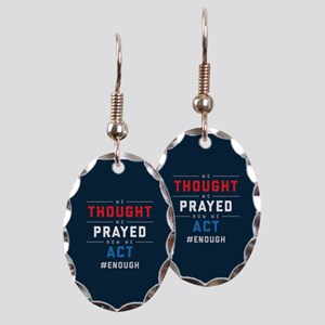 Now We Act #ENOUGH Earring Oval Charm