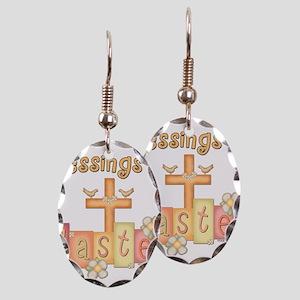 heastercrossblessings copy Earring Oval Charm