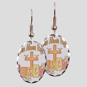 heastercrossrejoices copy Earring Oval Charm