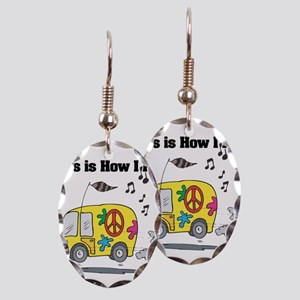 How I Roll (Hippie Bus/Van) Earring Oval Charm
