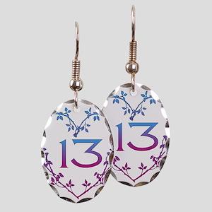 Thirteenth Birthday Earring Oval Charm