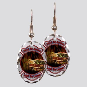 FireFighter Earring Oval Charm