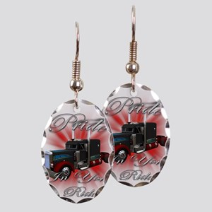 Pride In Ride 3 Earring Oval Charm