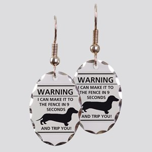 Warning Trip You Earring Oval Charm
