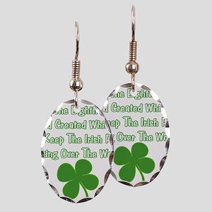 IrishWorldDesign Earring Oval Charm