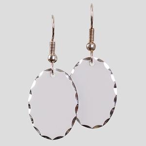 Wild Flower Peace Earring Oval Charm