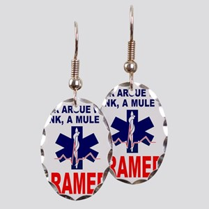 PARAMEDIC/EMT Earring Oval Charm