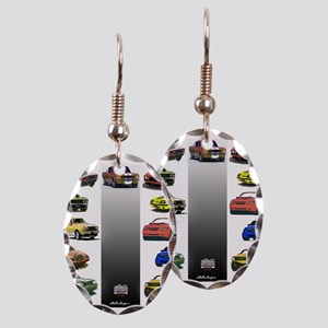 Mustang Gifts Earring Oval Charm