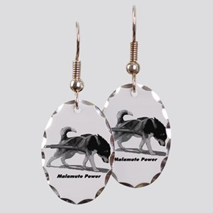 Malamute Power Earring Oval Charm