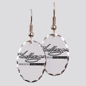Challenger Earring Oval Charm