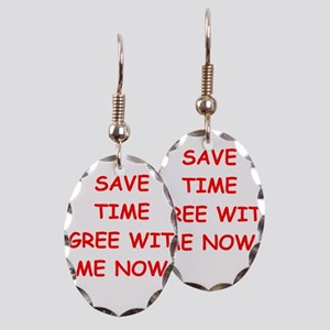 TIME Earring Oval Charm